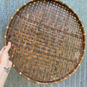 Vintage Wall Art - Vintage Flat Bamboo Trays